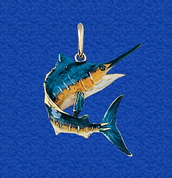 Nautical pendants marlin sailfish crabs turtles anchors sea