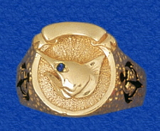 Solid 14k Gold Marlin Head Ring With Genuine Shire Eye Boating And Fishing For In One Jewelry Please See Drop Down Below