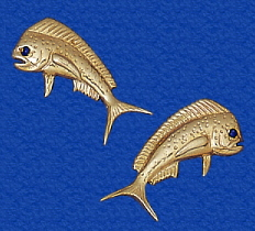 Solid 14k Gold Fishing Jewelry Earrings On Post Men And Women Show The World You Fish