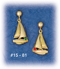 b4f4a3a4f Solid 14K gold sailboat earrings with fully 3D sculpted hull. The sails are  full and sailing away! Sailing jewelry for the lady sailor!!