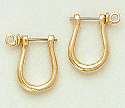 Solid 14k Gold Threaded Pin Is Hard To Find Man S Favorite Earring For The Pirate In You True Nautical Themed Jewelry