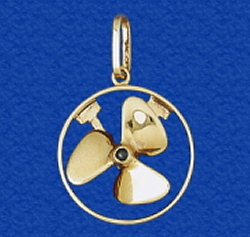 2 11 t5spinningpropellerpendantg solid 14k gold propeller jewelry pendant that spins with a genuine sapphire center real working nautical jewelry necklace for men and women alike mozeypictures Gallery