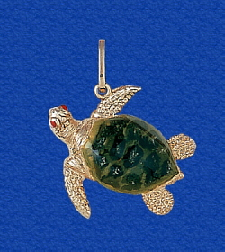 9 61en t5 2g gaze upon this unparalleled masterpiece representation of a true sea turtle jewelry pendant in solid 14k gold leathery flippers and all gorgeous on your mozeypictures Images
